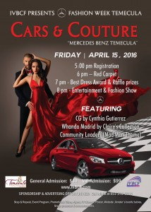 "FASHION WEEK TEMECULA ""CARS AND COUTURE"""