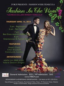 "FASHION WEEK TEMECULA ""FASHION IN THE VINES"""