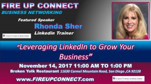 FIRE UP CONNECT-Speaker Rhonda Sher