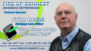 FIRE UP CONNECT-Speakers John Orsini 102417