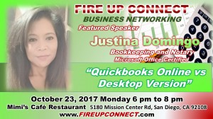 FIRE UP CONNECT-Speakers Justina Domingo 102317